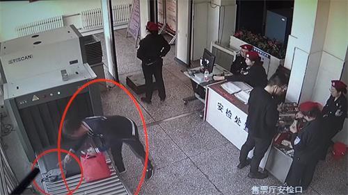 男子安检仪盗窃  仅过一小时落网